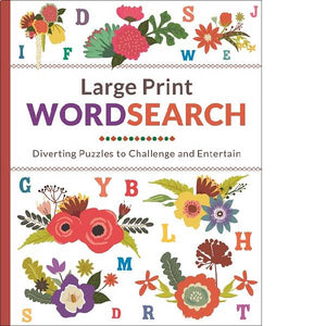 Large Print Floral Wordsearch