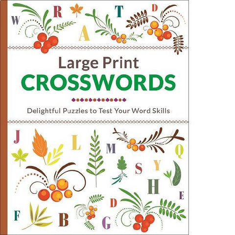 Large Print Floral Crossword