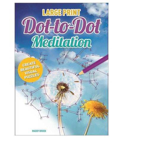 Large Print Meditation Dot to Dot