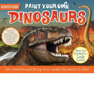 Paint Your Own Dinosaurs Book + Kit