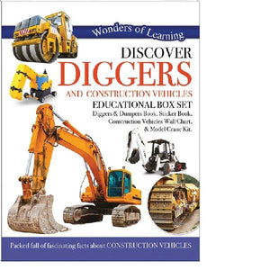 Discover Diggers & Construction Vehicles Activity Boxset