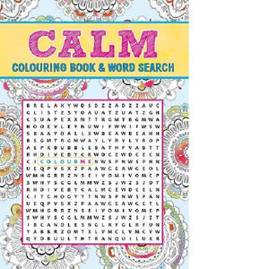 Calm Colouring & Wordsearch Book