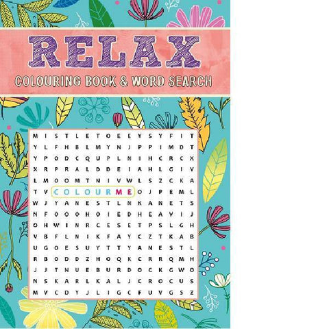 Relax Colouring & Wordsearch Book