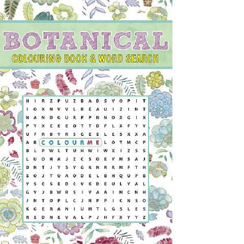 Botanical Colouring & Wordsearch Book