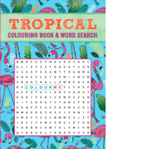 Tropical Colouring & Wordsearch Book