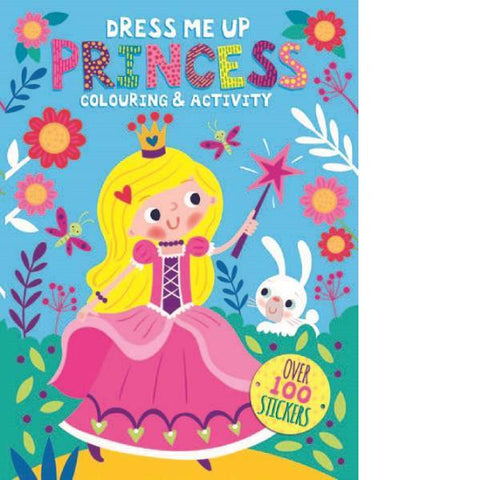 Dress Me Up Princess Colouring Activity
