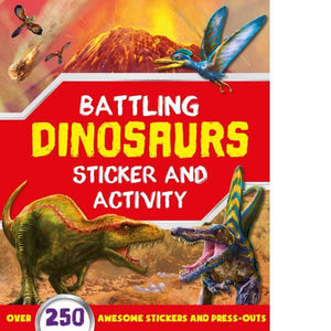 Battling Dinosaurs Sticker Activity