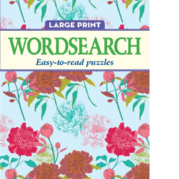 Large Print Wordsearch Carnations 48pg
