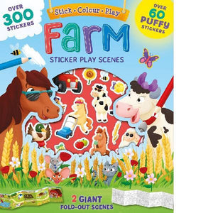 Fold Out Farm Foam Stickers