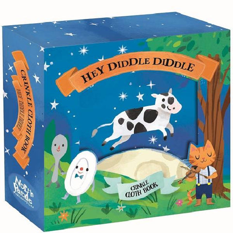 Hey Diddle Diddle Crinkle Cloth Book Gift Box