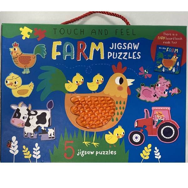 Touch & Feel Farm Jigsaw Puzzle Boxset
