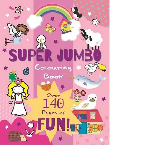 Super Jumbo Colouring Pink