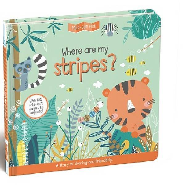 Where Are My Stripes Fold Out Fun Board Book