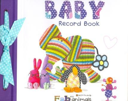 Fabric Animals Baby Record Book