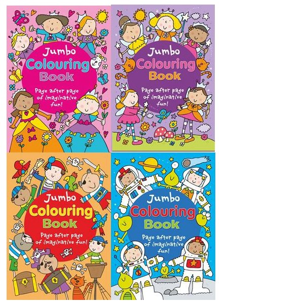 Jumbo Colouring x 4 titles assorted 56 pages