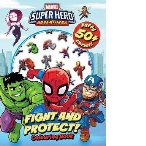 Marvel Superhero Adventure Puffy Sticker Colouring Book