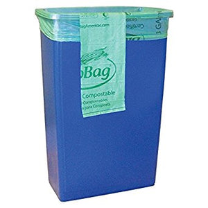 "Restaurant ""slim jim"" compostable liner Biobags (120 bags/case)"