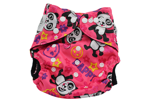 POCKET WASHABLE DIAPER - PANDA - 9 TO 34 LBS