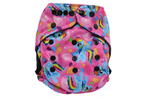 POCKET WASHABLE DIAPER - PONY - 9 TO 34 LBS