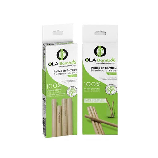 BAMBOO STRAWS - packs of 6 or 12