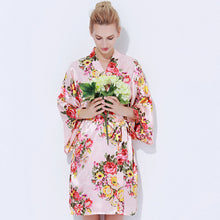 Bridesmaid Robes Bridal Robes Bridesmaid Robes Toronto Bridal Robes Toronto Wedding Robes Bridesmaid Robes Canada Ivory Personalized Robe Monogram Kimono Robe Floral Satin Robe Blush