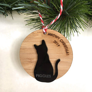 Cat or Dog Silhouette Decoration