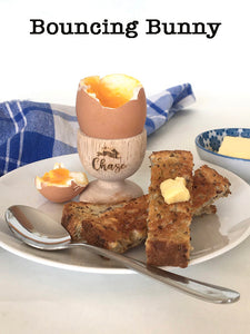 Wooden Personalised Egg Cups