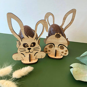 Bunny Puzzle Egg Holder