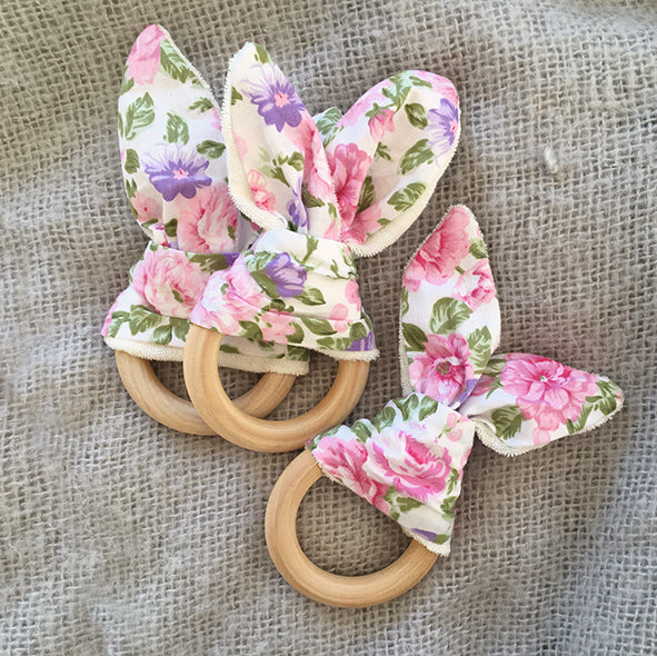 Bunny Ear Ring Teether