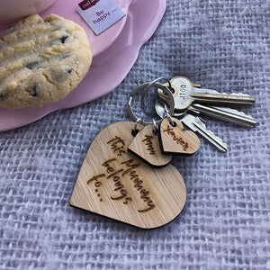 Belongs to Heart Key Ring