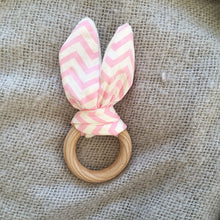 Load image into Gallery viewer, Bunny Ear Ring Teether