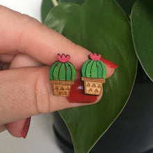 Load image into Gallery viewer, Pincushion Cactus Earrings