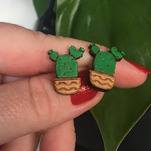 Load image into Gallery viewer, Prickly Pear Cactus Earrings