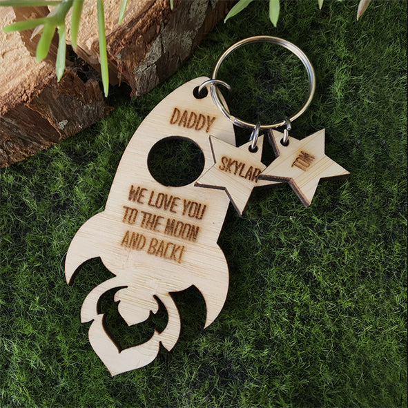 Rocket Fathers Day Key Ring