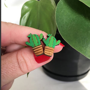 San Pedro Cactus Earrings
