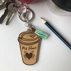 Personalised Teacher Fuel Keyring