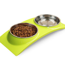 petcircle new arrivals pet cat dog feeders stainless steel dog bowls W-shape dog bowl double for chihuahua 3 colors freeshipping