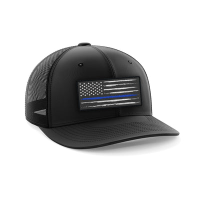 Headwear - Blue Line Patch | Fitted Cap