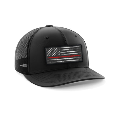 Headwear - Red Line Patch | Fitted Cap