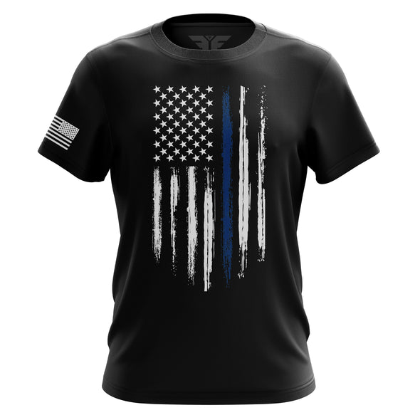 Men's Shirt - Blue Line Flag | Men's Tee