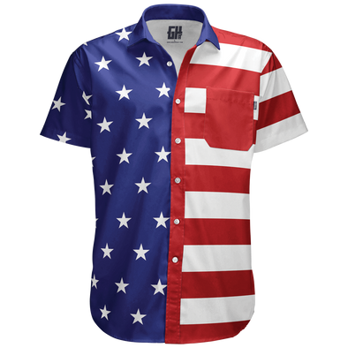 American Flag | Button Down Shirt