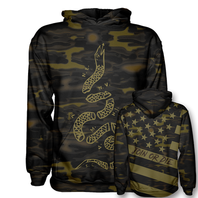 Join or Die - Gold Camo | Hoodie