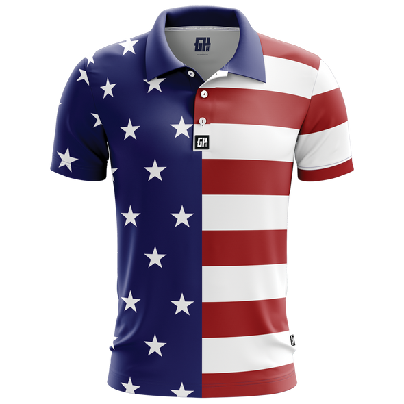 USA Flag | Polo Tee