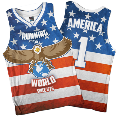 Running The World Since 1776 | Basketball Jersey
