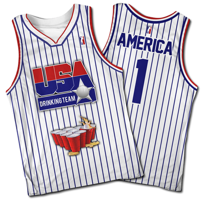 USA Drinking Team #1 | Basketball Jersey