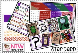 Clue - Hand drawn EXCLUSIVE - Weekly Planner Kit