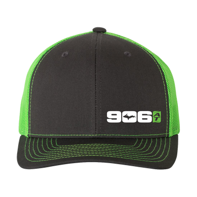 906AT Trucker Hat - GREY/GREEN