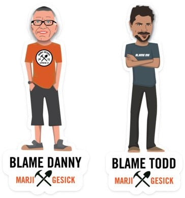 Marji Gesick Mini Todd & Danny Stickers