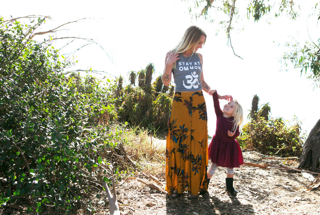 Stay at Om Mom nursing friendly USA made bamboo and organic cotton tank