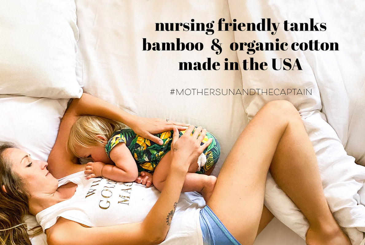 breastfeeding tanks for nursing moms made out of bamboo and organic cotton